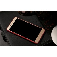 Пластиковый матовый непрозрачный чехол с дополнительной защитой торцев для Huawei Honor 5X Красный