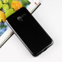 Силиконовый матовый полупрозрачный чехол для Alcatel One Touch POP 3 5 Черный
