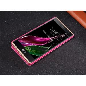 Чехол флип на пластиковой матовой нескользящей основе для LG Class Пурпурный
