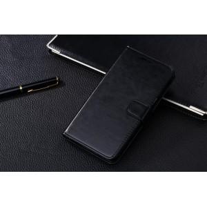 Чехол портмоне-подставка с магнитной застежкой вперед для Samsung Galaxy Grand 2 Duos Черный