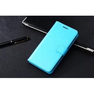 Чехол портмоне-подставка с магнитной застежкой вперед для Samsung Galaxy Grand 2 Duos Голубой