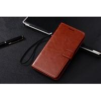 Чехол портмоне-подставка с магнитной застежкой вперед для Samsung Galaxy Grand 2 Duos Коричневый