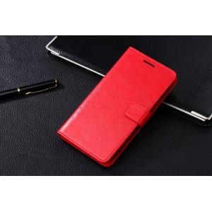 Чехол портмоне-подставка с магнитной застежкой вперед для Samsung Galaxy Grand 2 Duos Красный