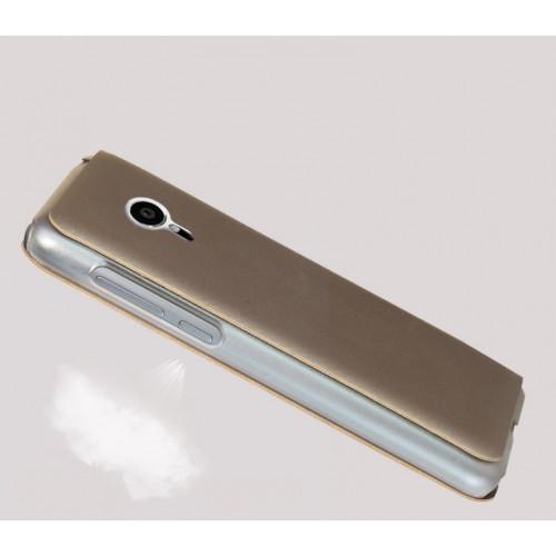 Чехол флип на пластиковой основе с окном вызова для Meizu Pro 5