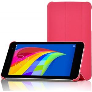 Чехол флип подставка сегментарный для Huawei MediaPad T1 7.0/T2 7.0 Пурпурный