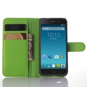 Чехол портмоне подставка с защелкой для ZTE Blade X7/Z7 Зеленый
