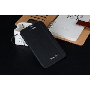 Чехол флип подставка сегментарный для Samsung Galaxy Tab 3 Lite Черный