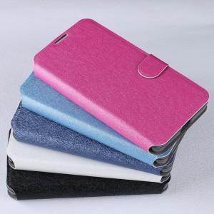 Текстурный чехол флип подставка на силиконовой основе с отделением для карт магнитной застёжкой для Microsoft Lumia 550