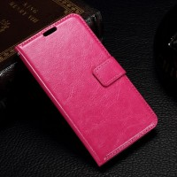 Чехол портмоне подставка с магнитной защелкой для Microsoft Lumia 550 Пурпурный
