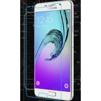 Ультратонкое износоустойчивое сколостойкое олеофобное защитное стекло-пленка для Samsung Galaxy A7 (2016)