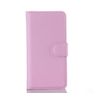Чехол портмоне подставка на силиконовой основе с отсеком для карт и магнитной застежкой для Samsung Galaxy A3 (2016) Розовый