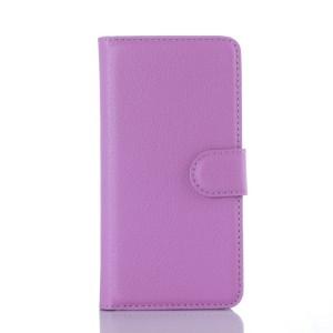 Чехол портмоне подставка на силиконовой основе с отсеком для карт и магнитной застежкой для Samsung Galaxy A3 (2016) Фиолетовый