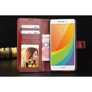 Глянцевый чехол портмоне подставка на пластиковой основе с защелкой для Samsung Galaxy A3 (2016)