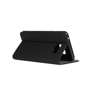 Чехол флип подставка на силиконовой основе с отделением для карты текстура Полосы для Samsung Galaxy A3 (2016) Черный