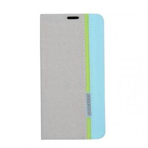Чехол флип подставка на силиконовой основе с отделением для карты текстура Полосы для Samsung Galaxy A3 (2016) Белый