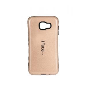 Силиконовый эргономичный непрозрачный чехол с нескользящими гранями для Samsung Galaxy A3 (2016) Бежевый