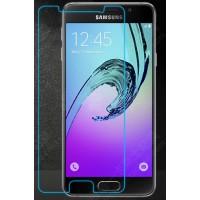 Ультратонкое износоустойчивое сколостойкое олеофобное защитное стекло-пленка для Samsung Galaxy A3 (2016)