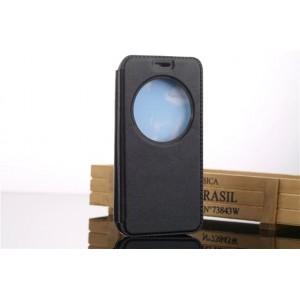Чехол флип подставка на силиконовой основе с окном вызова для ASUS Zenfone Go Черный