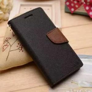 Текстурный чехол портмоне подставка на силиконовой основе с дизайнерской застежкой для ASUS Zenfone Go Черный