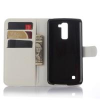 Чехол портмоне подставка с защелкой для LG K10 Белый