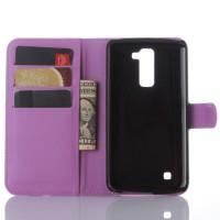 Чехол портмоне подставка с защелкой для LG K10 Фиолетовый