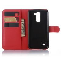 Чехол портмоне подставка с защелкой для LG K10 Красный
