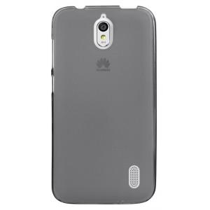 Силиконовый матовый полупрозрачный чехол для Huawei Y625 Черный