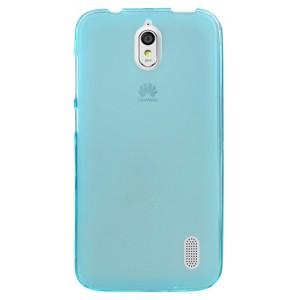 Силиконовый матовый полупрозрачный чехол для Huawei Y625 Голубой