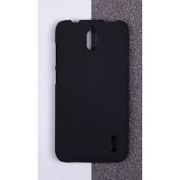 Пластиковый матовый непрозрачный чехол для Huawei Y625 Черный