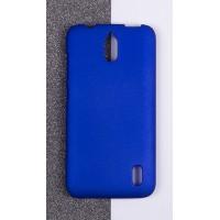 Пластиковый матовый непрозрачный чехол для Huawei Y625 Синий