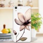 Силиконовый матовый дизайнерский чехол с эксклюзивной серией принтов для Huawei Y6