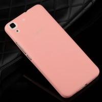Силиконовый матовый непрозрачный чехол для Huawei Y6 Розовый