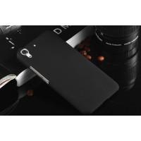 Пластиковый матовый непрозрачный чехол для Huawei Y6 Черный