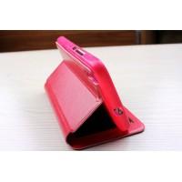 Чехол флип подставка на силиконовой основе с окном вызова для Huawei Y6 Красный