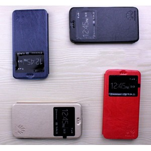 Чехол флип подставка на силиконовой основе с окном вызова для Huawei Y6