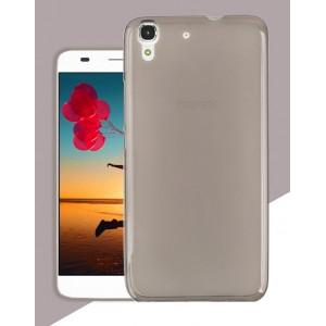 Силиконовый матовый полупрозрачный чехол для Huawei Y6 Серый