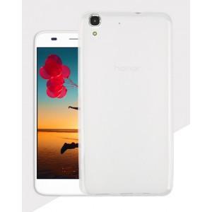 Силиконовый матовый полупрозрачный чехол для Huawei Y6 Белый