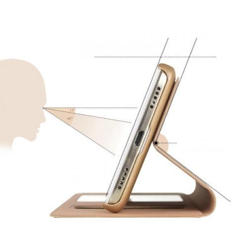 Чехол флип подставка на пластиковой основе с окном вызова и свайпом для Huawei Y6