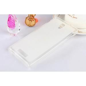 Полупрозрачный силиконовый чехол для ASUS Zenfone 5 (A500KL, A501CG) Белый