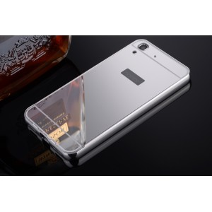 Гибридный металлический двухкомпонентный чехол и поликарбонатной крышкой с зеркальным покрытием для Huawei Y6 Белый