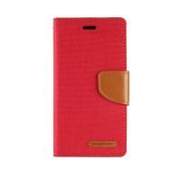Чехол портмоне подставка с защелкой текстура Ткань для ASUS Zenfone Selfie Красный