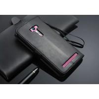 Глянцевый чехол портмоне подставка на пластиковой основе с защелкой для ASUS Zenfone Selfie Черный