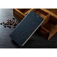 Текстурный чехол флип подставка на пластиковой основе для ASUS Zenfone Selfie Черный