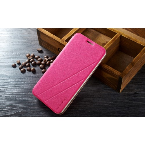 Текстурный чехол флип подставка на пластиковой основе для ASUS Zenfone Selfie