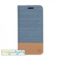 Текстурный чехол подставка на силиконовой основе с отделением для карты для ASUS Zenfone Selfie Голубой