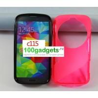 Силиконовый чехол S для Samsung Galaxy K Zoom Розовый