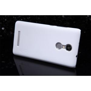 Пластиковый матовый нескользящий премиум чехол для Xiaomi RedMi Note 3 Белый