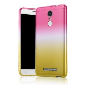 Силиконовый градиентный чехол для Xiaomi RedMi Note 3 Розовый