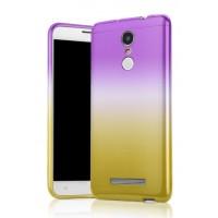 Силиконовый градиентный чехол для Xiaomi RedMi Note 3 Фиолетовый
