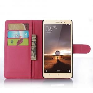 Чехол портмоне подставка с защелкой для Xiaomi RedMi Note 3